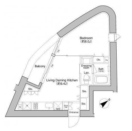 プラウドフラット新宿御苑401-1号室