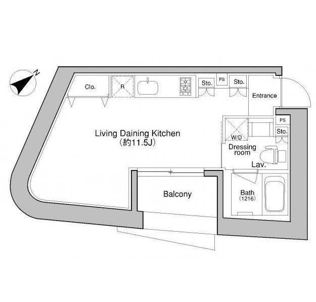 プラウドフラット新宿御苑402-1号室
