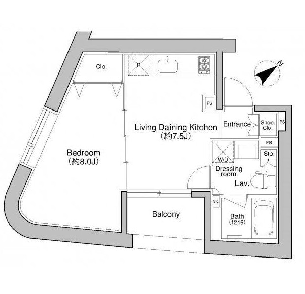 プラウドフラット新宿御苑602-1号室