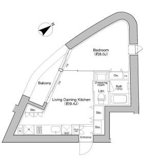 プラウドフラット新宿御苑701-1号室