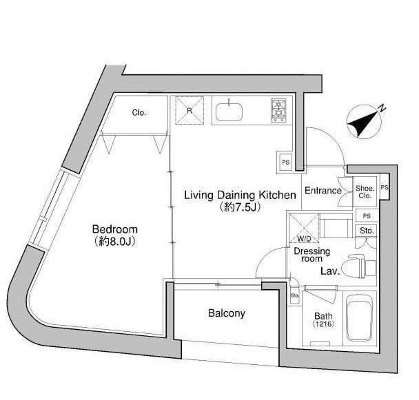 プラウドフラット新宿御苑702-1号室