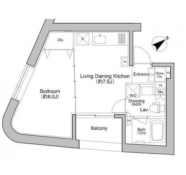プラウドフラット新宿御苑802-1号室