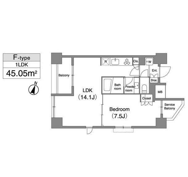 プライマル笹塚1103号室