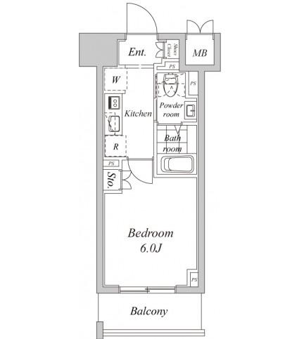 プラウドフラット神楽坂Ⅱ712号室