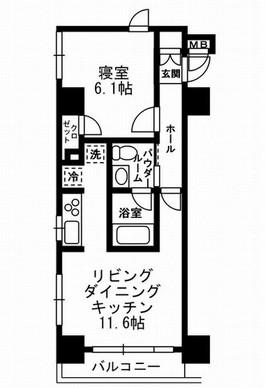 レジディア月島Ⅲ301号室