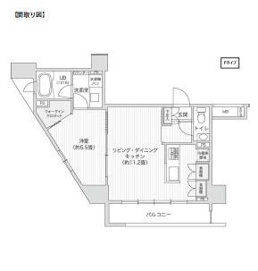 レジディア笹塚Ⅱ1009号室