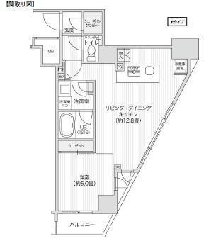 レジディア笹塚Ⅱ1108号室