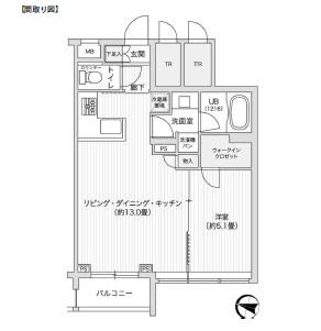 レジディア笹塚Ⅱ213号室