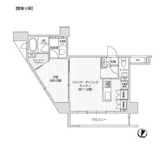レジディア笹塚Ⅱ909号室