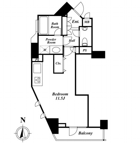 ドゥーエ西麻布Ⅰ・Ⅱ1-1101号室