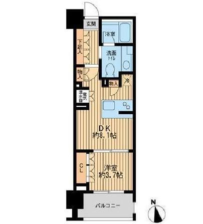 ニューシティアパートメンツ芝公園1104号室