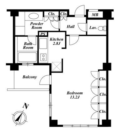 プラチナコート広尾205号室
