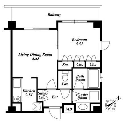 プラチナコート広尾 208号室