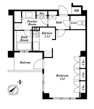 プラチナコート広尾 401号室