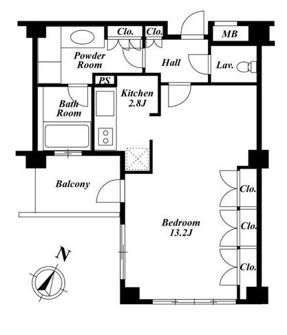 プラチナコート広尾405号室