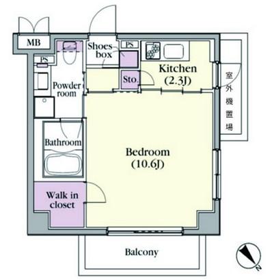 プラチナコート中目黒104号室