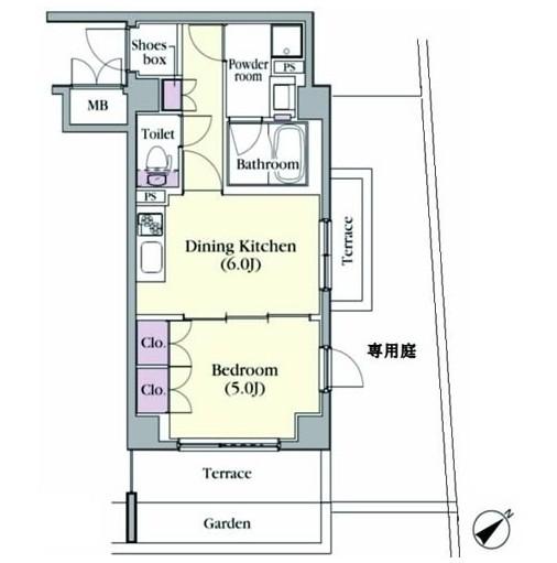 プラチナコート中目黒108号室