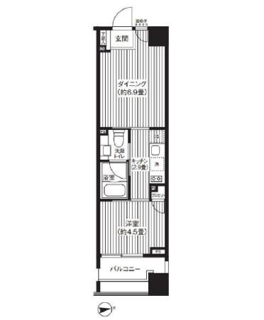 コスモグラシア芝大門1103号室