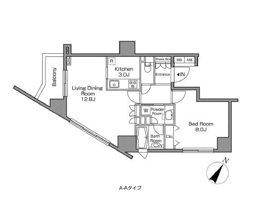 レジディアタワー中目黒1001号室
