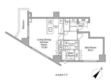 レジディアタワー中目黒1701号室