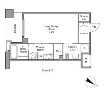 レジディアタワー中目黒205号室