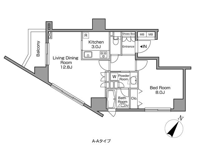 レジディアタワー中目黒201号室