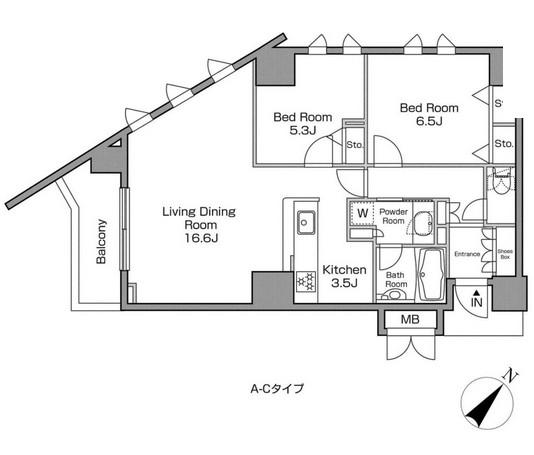 レジディアタワー中目黒702号室