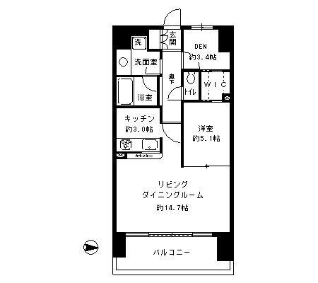 パークキューブ東品川406号室