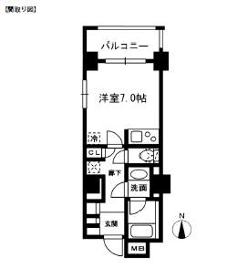 レジディア中落合B101号室