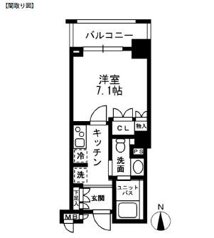 レジディア中落合C204号室