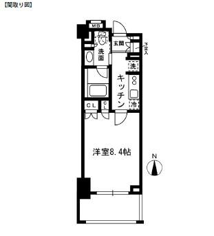 レジディア中落合B608号室