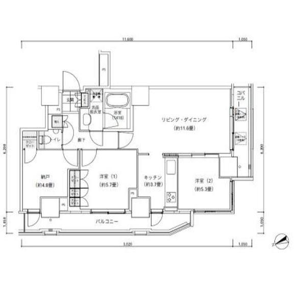 パークキューブ愛宕山タワー1302号室