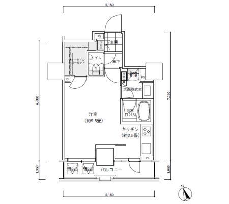 パークキューブ愛宕山タワー1403号室