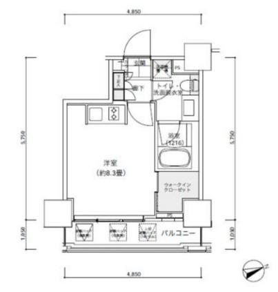 パークキューブ愛宕山タワー1405号室