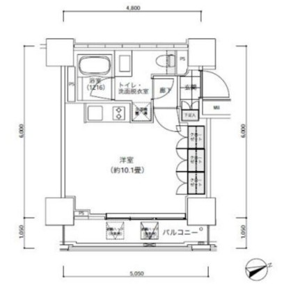 パークキューブ愛宕山タワー1406号室