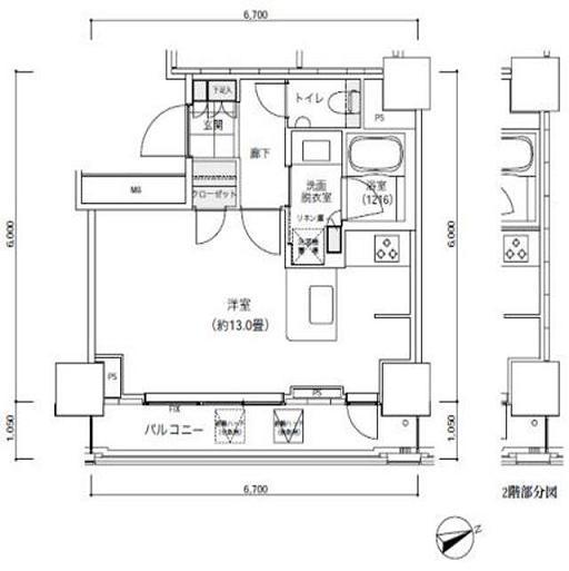 パークキューブ愛宕山タワー1407号室