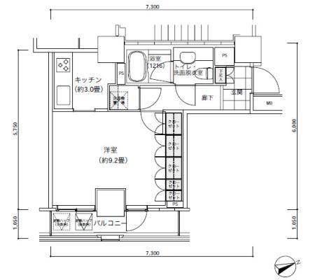 パークキューブ愛宕山タワー1504号室