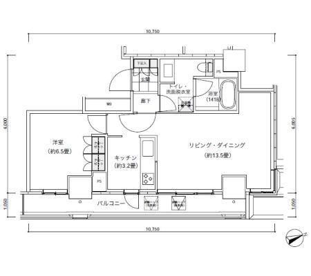 パークキューブ愛宕山タワー1605号室