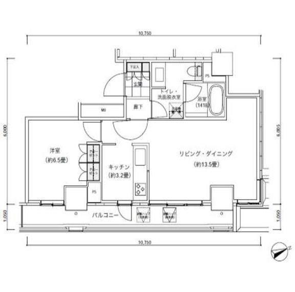 パークキューブ愛宕山タワー1705号室