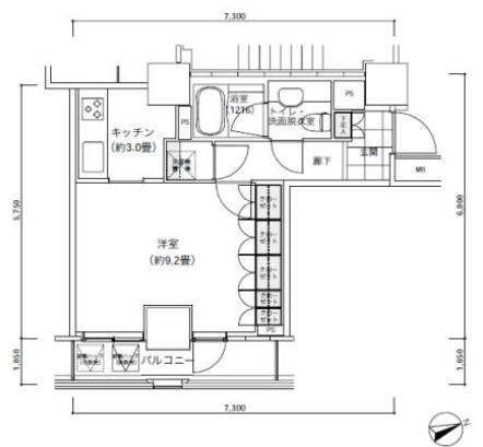 パークキューブ愛宕山タワー1904号室