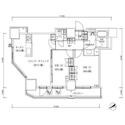 パークキューブ愛宕山タワー2001号室