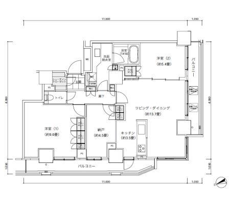 パークキューブ愛宕山タワー2102号室