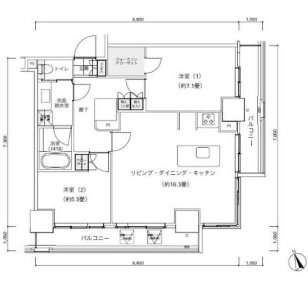 パークキューブ愛宕山タワー2303号室
