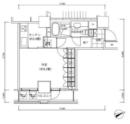 パークキューブ愛宕山タワー2404号室