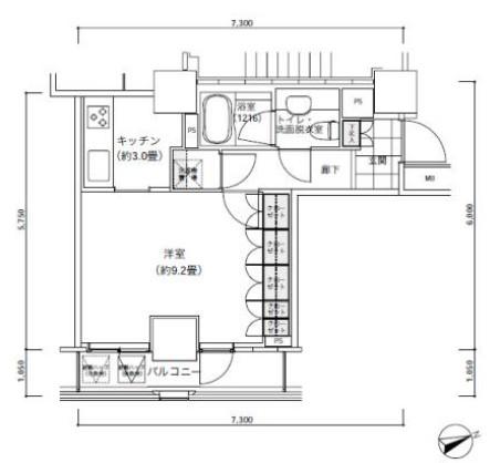 パークキューブ愛宕山タワー2504号室