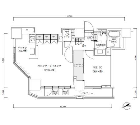パークキューブ愛宕山タワー2601号室