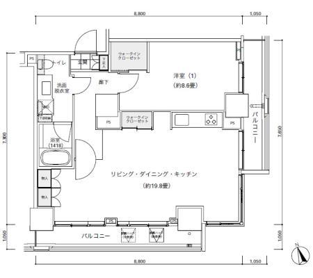 パークキューブ愛宕山タワー2603号室