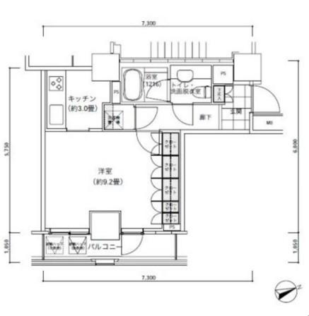パークキューブ愛宕山タワー2704号室