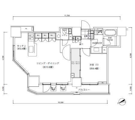 パークキューブ愛宕山タワー2801号室