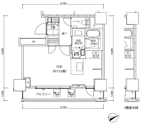 パークキューブ愛宕山タワー407号室